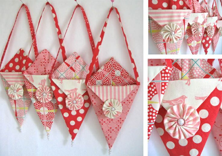 DIY tutorial linked. What a great idea for making Valentine pockets for each family member. Stuff with a gift or love note. :)