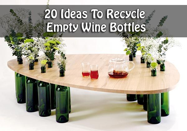 Creative recyclers have converted old bottles into for Recycling wine bottles creatively