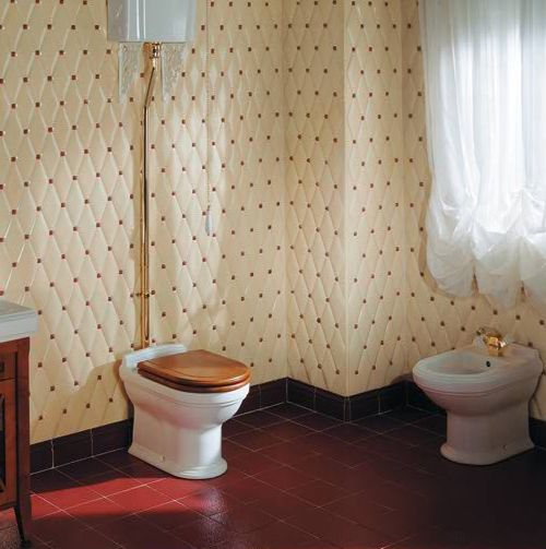 quilted tiles, bidet, seriously... woah!