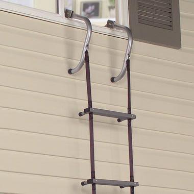 The Easy Deploy Fire Escape Ladder - Hammacher Schlemmer