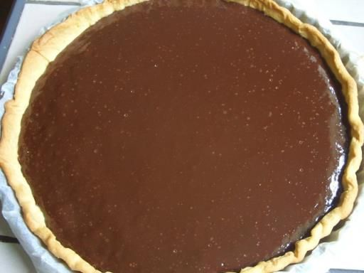 Tarte au chocolat facile - Recette de cuisine Marmiton : une recette  50cl de…