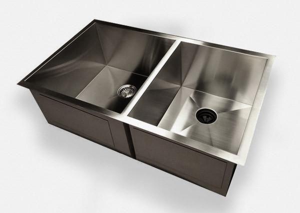 Zero Radius 32 Double Bowl 60 40 0D32 Was SS0DT Undermount Kitchen SinkKitchen