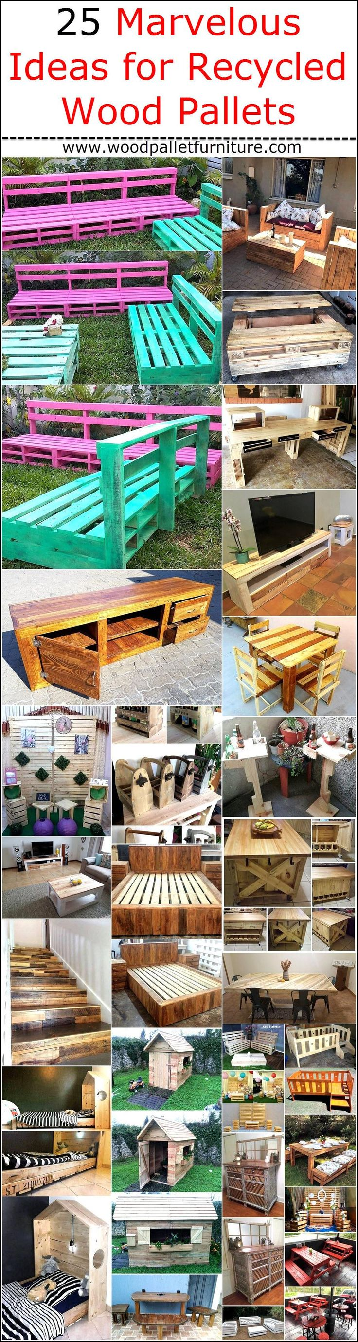 There are unlimited ideas with which the people with the creative mind can make the items of daily use by utilizing the recycled wood pallets, the bed for the kid's room can be created and the house of the pet can also be made which are both expensive. Those who can't afford or those who don't prefer to spend money on the things which can be created at home can go for making the furniture for the garden and patio at home. In some cases, the pallets need to be painted otherwise they can be…
