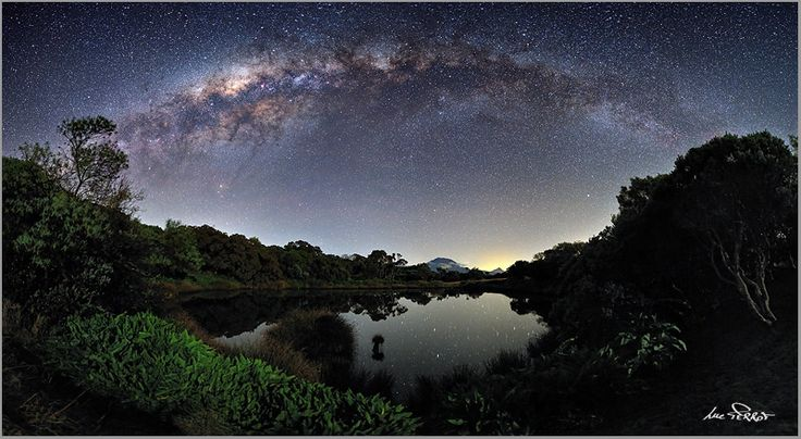 """The Milky Way View from the Piton de l'Eau"", Réunion Island by Luc Perrot (Réunion Island)"
