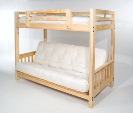 Com The Ultimate E Saver Solid Wood American Made And Sleeps 3 Full Futon Bunk Bed Frame Only Eco Friendly Home Kitch