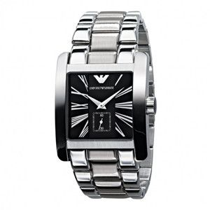 Emporio Armani AR0181 Mens Quartz Stainless Steel Bracelet Watch UK on sale armaniemporiowatches.co.uk
