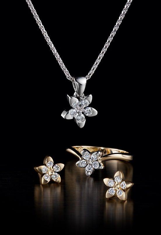 Oy Tillander Ab Vuokko diamond ring & earrings &necklace, www.tillander.fi/ #tillander #diamond #ring #whitegold #gold #earrings #necklace #wedding #engagement