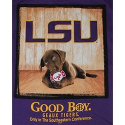 LSU Tigers T-Shirt - Man's Best Friend - Good Boy
