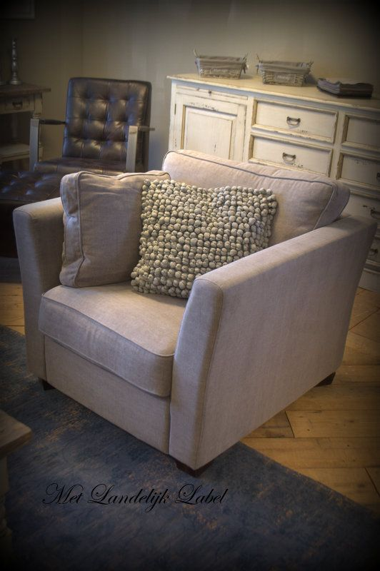 1000 images about fauteuils en hockers met landelijk label on pinterest monaco tes and products - Zeer comfortabele fauteuil ...