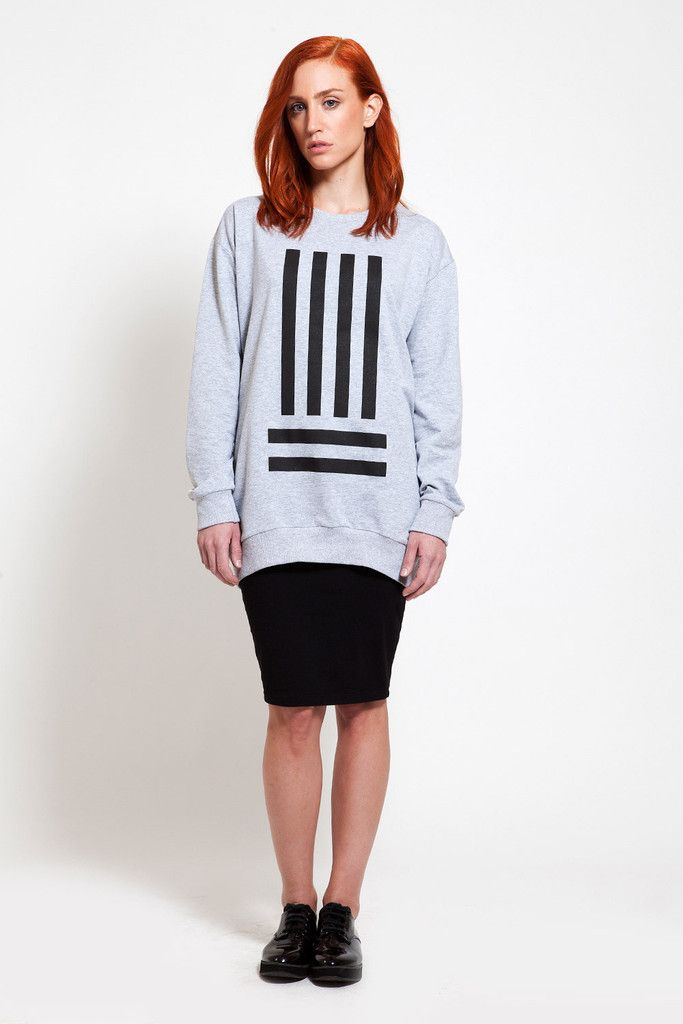 A stylish combo. Visit www.ozonboutique.com for more sweatshirt designs!