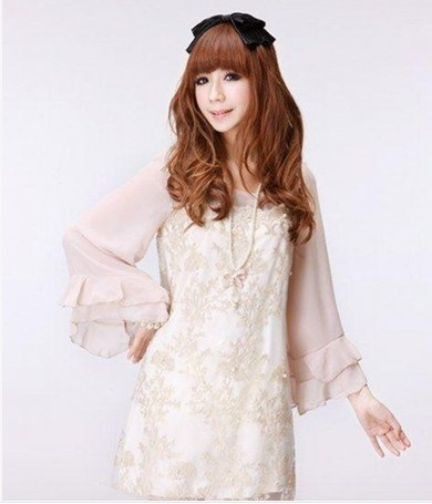 All size with lace chiffon