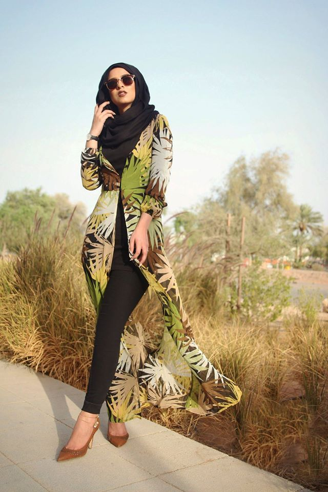 How to wear long cardigan with hijab…