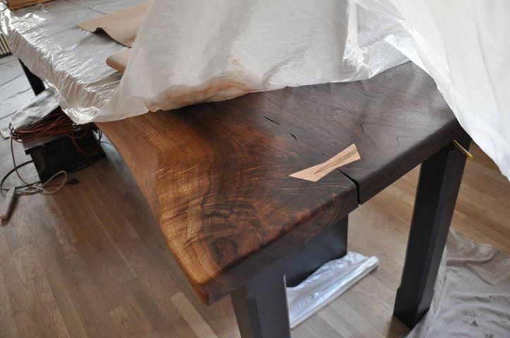 Walnut Countertop With Butterfly Or Bow Tie Joint