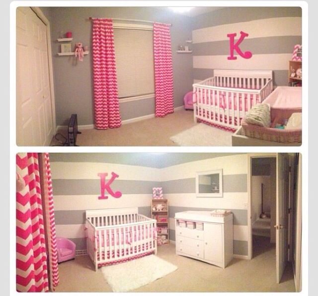 Baby Girl S Room Gray I Like The Grey Stripes