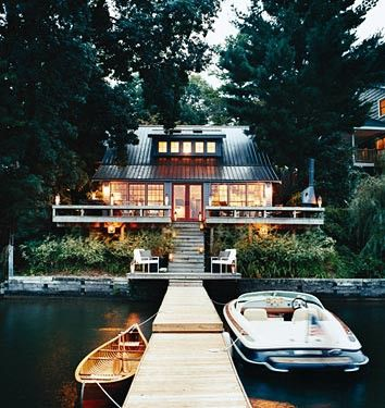 lake.: Cabin, Dreams Home, Lakes House, Boats, Lakes Home, Dreams House, Cottages, Places, Lakes Living