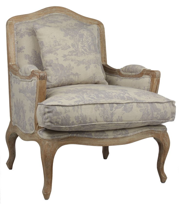 Henri French Provincial Armchair - Toile Print