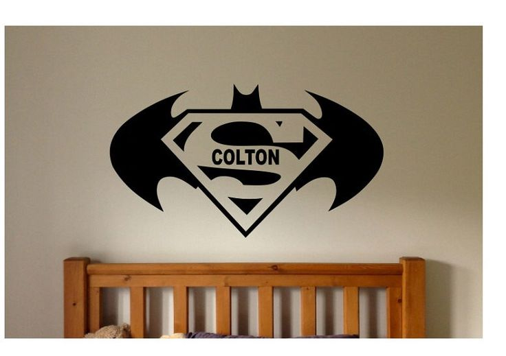 Batman Superman Quote Sign Vinyl Decal Sticker wall lettering superhero name batman vs superman book marvel comic cartoon robin super hero by ColtonsPlace on Etsy https://www.etsy.com/listing/477318051/batman-superman-quote-sign-vinyl-decal