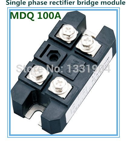 Free shipping 100A Single phase Bridge Rectifier Module MDQ100 welding type  used for input rectifying power supply