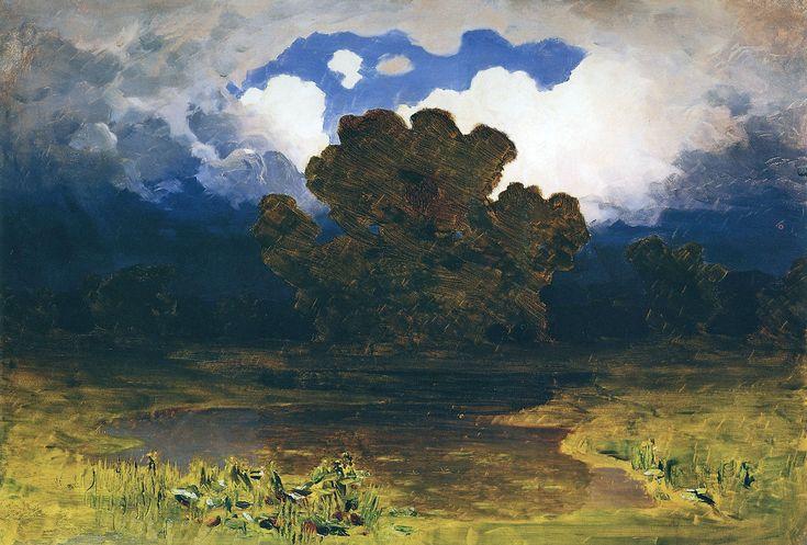 Куинджи. Лесное озеро. Облако. Не ранее 1890