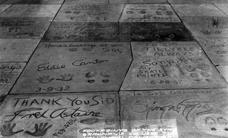 (ca. 1930s) - Footprints of the stars at Graumans Chinese ...