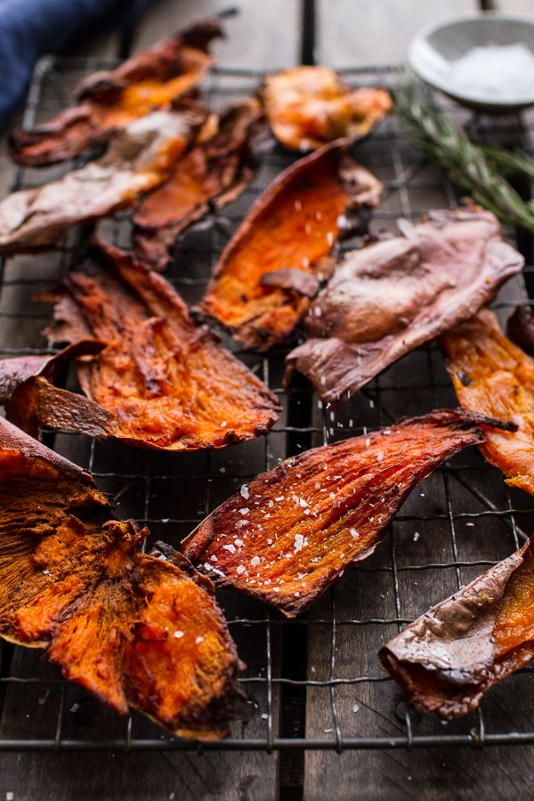 simple salty sweet potato skin chips sweet potato skins food cravings ...