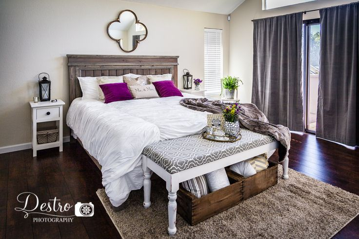 Rustic Chic Bedroom Decor Diy Farmhouse King Bed Diy