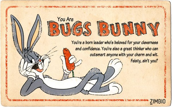 Which Classic Cartoon Character Are You? I'm Bugs Bunny!! Yay!