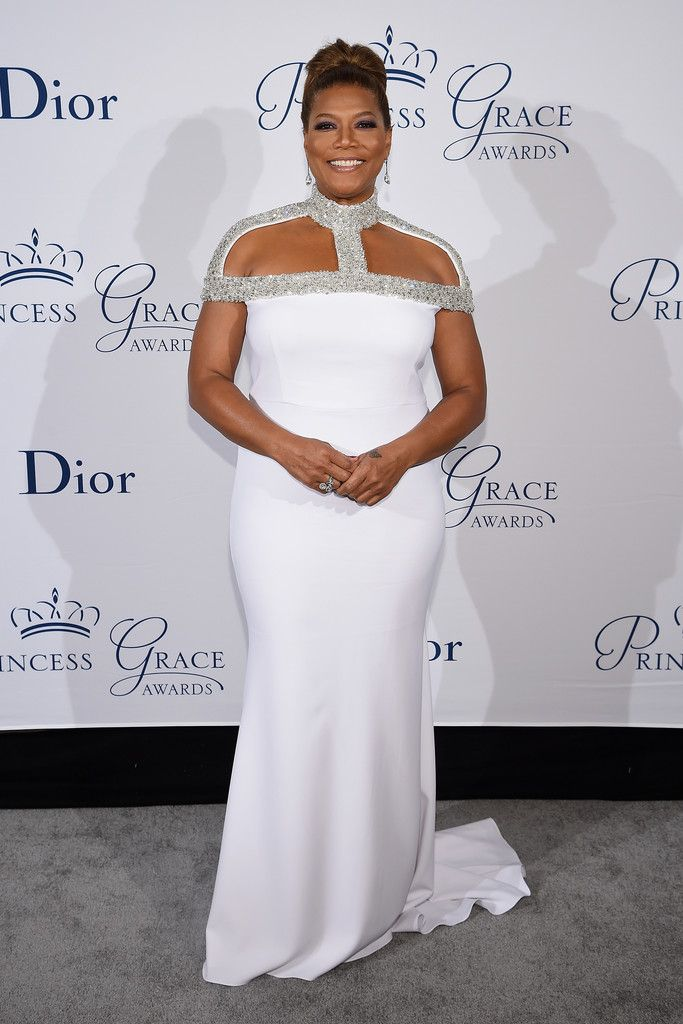 Queen Latifah in Christian Siriano attends the 2016 Princess Grace Awards Gala. #bestdressed