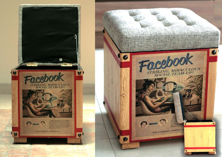 An eye-catching ottoman/storage can serve as extra seating. Size			        :H 38cm, W 37cm Product Details	:wood, fabric Price			:Rp 997.500  | www.levardi.com