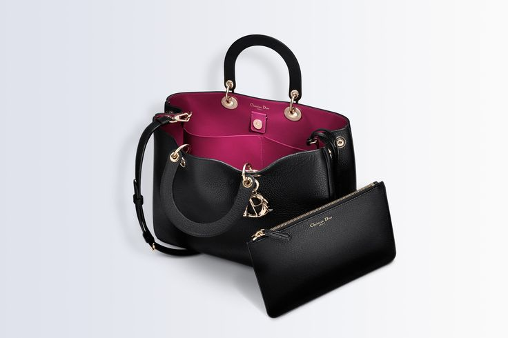 """Bolsa grande """"diorissimo"""" em couro de novilho preta - A marroquinaria Dior"""