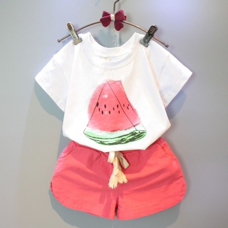 Girls Clothing Sets 2016 New Summer Girls clothes Watermelon Pattern Print Kids clothes T shirt + Red Shorts Children clothing-in Clothing Sets from Mother & Kids on Aliexpress.com | Alibaba Group