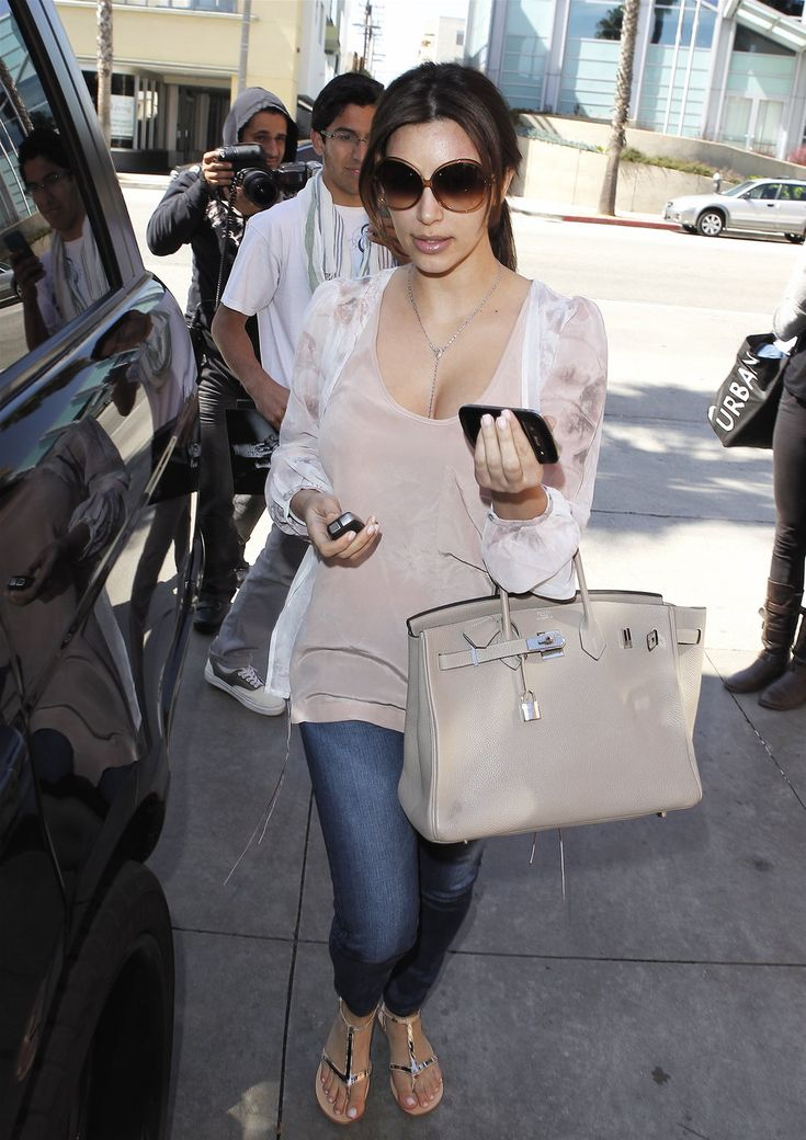 kelly hermes wallet - Kim Kardashian Leather Tote | Kim Kardashian, Birkin Bags and ...
