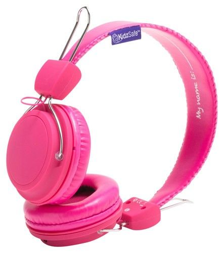 SMS Audio - KidzSafe MyDesign D.I.Y. Girls' On-Ear Headphones - Pink - Larger Front