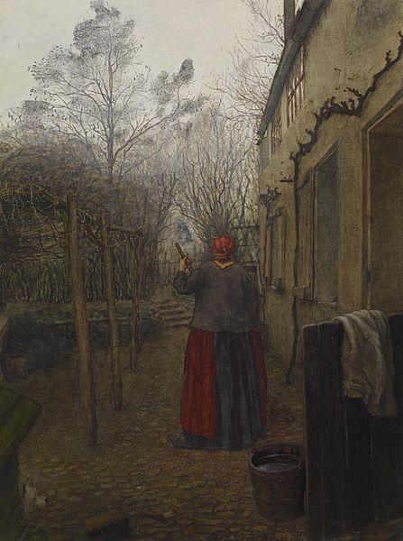 File:Léon Bonvin - Woman Sweeping - Walters 371668 (2).jpg
