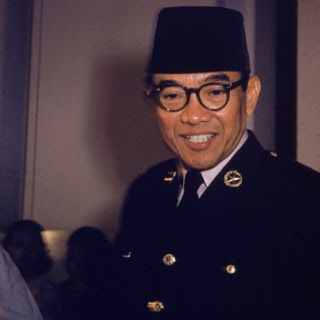 Soekarno on Number one president of Indonesia