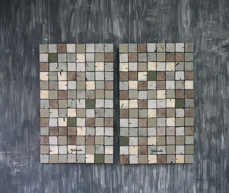 Organic Mosaic decorative panels 116-145cm, Mixed technique, 2016 Yalanzhi
