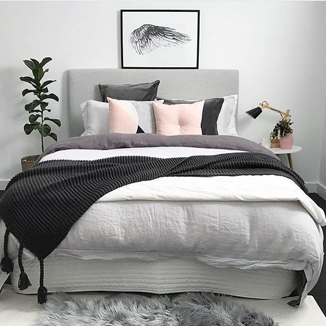 Bedroom swooning!!! @myhouseloves you've created the perfect space yet again! Thanks so much for using our favourite @magdalenatyboni Ikaros print.  #magdalenatyboni #ikaros