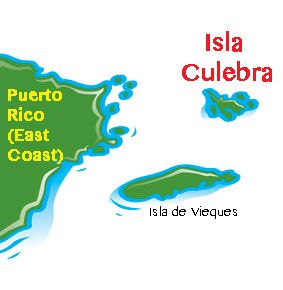 Map of Culebra Island, Puerto Rico