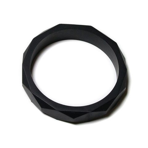 Finley Silicone Teething Bangle- Black Licorice