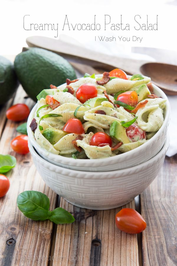 Creamy Avocado Pasta Salad - I Wash You Dry