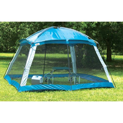 Instant Screen Arbor Sun Shade Saxony Blue 2 Zippered Entrances Picnic Shelter #InstantScreenArborSunShade