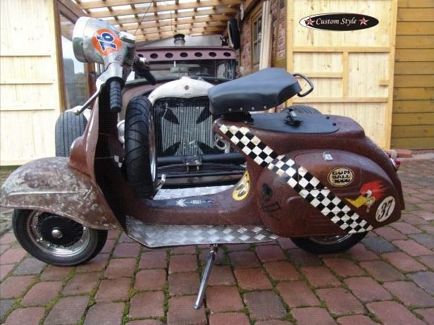 12 best scooters vintage modern customs images on for Garage scooter nice