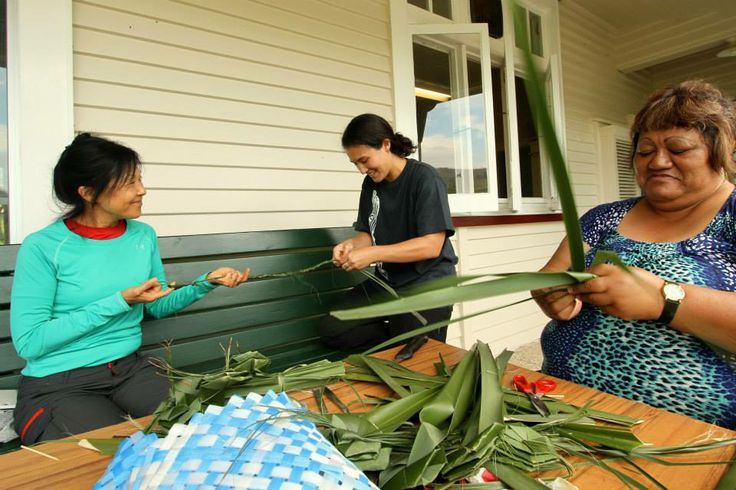 Come for the hiking, stay for the local arts and crafts. Learning traditional Maori weaving from local tribespeople