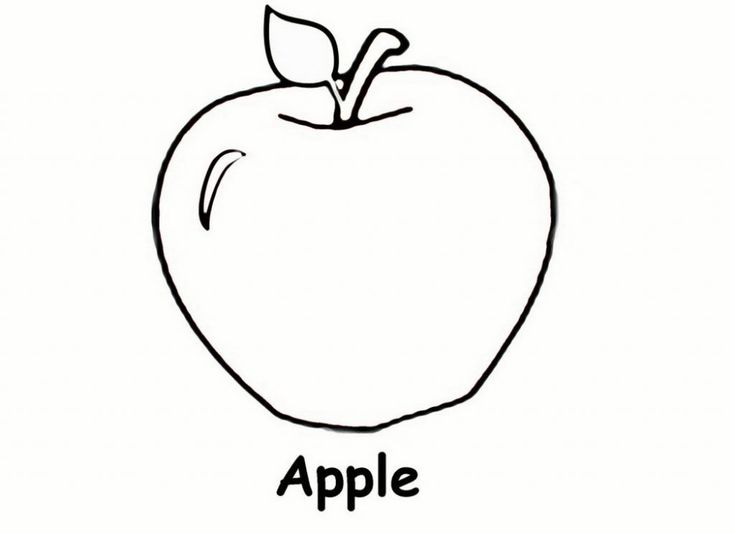 Preschool Coloring Pages Apple : Best miscellaneous coloring pages images on pinterest