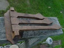 VINTAGE CRAFTSMAN SOLID OAK DUCK TOWEL BAR