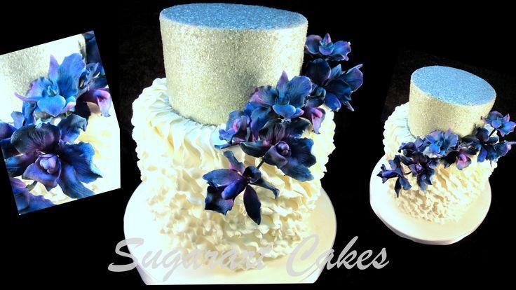 Wedding - gelatin glitter Flexi Paste orchids