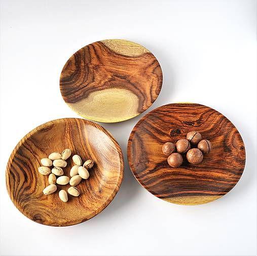 Drevená miska tanier X 3 kusy