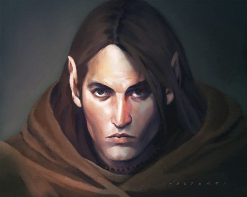 Fantasy art] Male Half-elf by sedone at Epilogue