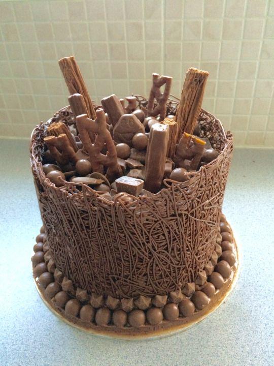 Chocolate overload! CADBURY chocolate cake
