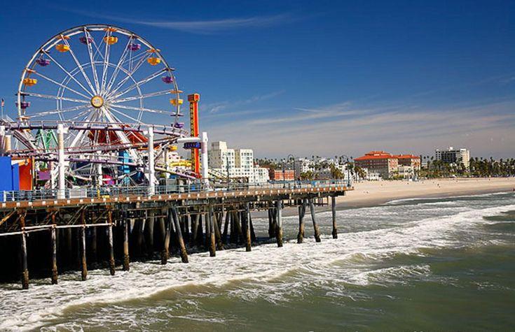 Santa Monica Pier in Los Angeles California